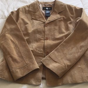 Light weight tan suede jacket